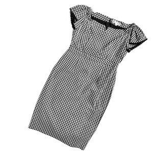 Nanette Lepore   gingham off-the-shoulder dress